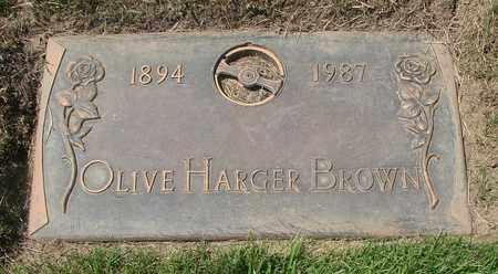 BROWN, OLIVE - Polk County, Oregon | OLIVE BROWN - Oregon Gravestone Photos