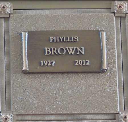 BROWN, PHYLLIS - Polk County, Oregon | PHYLLIS BROWN - Oregon Gravestone Photos