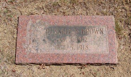 BROWN, RUSSELL NOEL - Polk County, Oregon | RUSSELL NOEL BROWN - Oregon Gravestone Photos