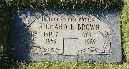 BROWN, RICHARD EUGENE - Polk County, Oregon | RICHARD EUGENE BROWN - Oregon Gravestone Photos