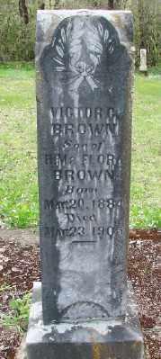 BROWN, VICTOR C - Polk County, Oregon | VICTOR C BROWN - Oregon Gravestone Photos