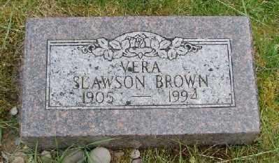 SLAWSON BROWN, VERA - Polk County, Oregon   VERA SLAWSON BROWN - Oregon Gravestone Photos