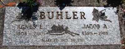 BUHLER, AGNES E - Polk County, Oregon | AGNES E BUHLER - Oregon Gravestone Photos