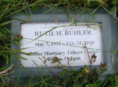 BUHLER, RUTH M - Polk County, Oregon   RUTH M BUHLER - Oregon Gravestone Photos