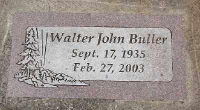 BULLER, WALTER JOHN - Polk County, Oregon | WALTER JOHN BULLER - Oregon Gravestone Photos