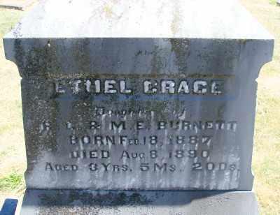 BURNETT, ETHEL GRACE - Polk County, Oregon | ETHEL GRACE BURNETT - Oregon Gravestone Photos