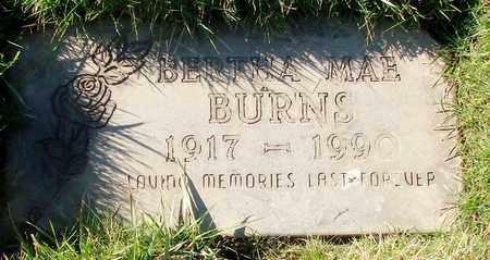 BURNS, BERTHA MAE - Polk County, Oregon | BERTHA MAE BURNS - Oregon Gravestone Photos