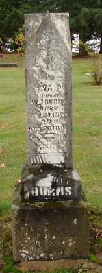 BURNS, EVA ELNORIA - Polk County, Oregon | EVA ELNORIA BURNS - Oregon Gravestone Photos