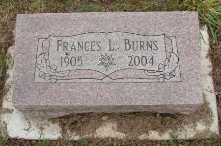 BURNS, FRANCES L - Polk County, Oregon   FRANCES L BURNS - Oregon Gravestone Photos