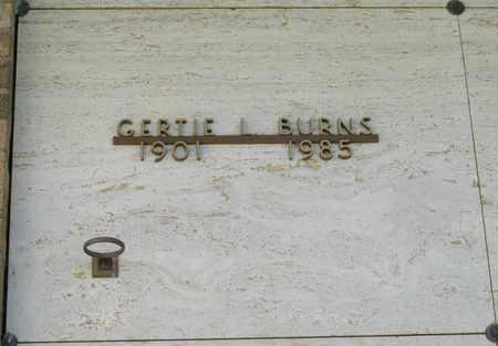 BURNS, GERTIE L - Polk County, Oregon   GERTIE L BURNS - Oregon Gravestone Photos
