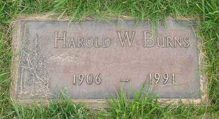 BURNS, HAROLD W - Polk County, Oregon | HAROLD W BURNS - Oregon Gravestone Photos