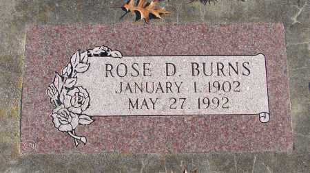 BURNS, ROSE D - Polk County, Oregon | ROSE D BURNS - Oregon Gravestone Photos