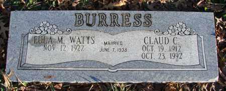 WATTS BURRESS, EULA M - Polk County, Oregon   EULA M WATTS BURRESS - Oregon Gravestone Photos