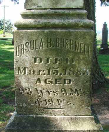 BUSHNELL, URSULA B - Polk County, Oregon   URSULA B BUSHNELL - Oregon Gravestone Photos