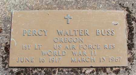 BUSS, PERCY WALTER - Polk County, Oregon | PERCY WALTER BUSS - Oregon Gravestone Photos