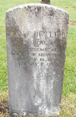 BUTLER (WWI), RAY ELMER - Polk County, Oregon   RAY ELMER BUTLER (WWI) - Oregon Gravestone Photos