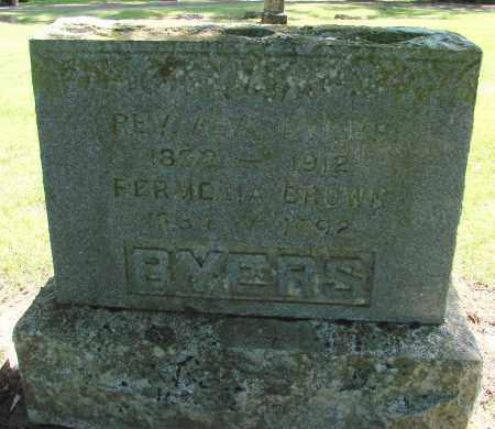 BROWN BYERS, PERMILIA - Polk County, Oregon | PERMILIA BROWN BYERS - Oregon Gravestone Photos