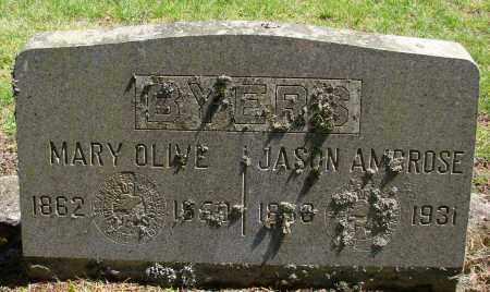 BYERS, MARY OLIVE - Polk County, Oregon | MARY OLIVE BYERS - Oregon Gravestone Photos