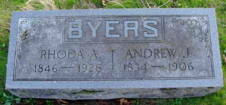 BYERS, ANDREW J - Polk County, Oregon   ANDREW J BYERS - Oregon Gravestone Photos