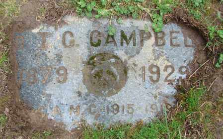 CAMPBELL, T C - Polk County, Oregon   T C CAMPBELL - Oregon Gravestone Photos