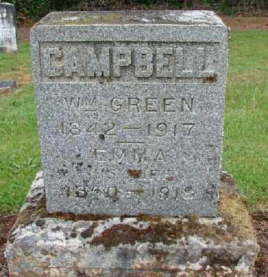 CAMPBELL, WILLIAM GREEN - Polk County, Oregon | WILLIAM GREEN CAMPBELL - Oregon Gravestone Photos