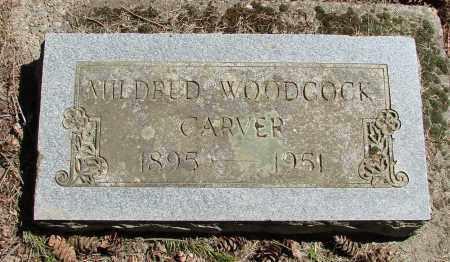 WOODCOCK CARVER, MILDRED A - Polk County, Oregon | MILDRED A WOODCOCK CARVER - Oregon Gravestone Photos