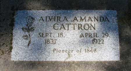CATTRON, ALVIRA AMANDA - Polk County, Oregon | ALVIRA AMANDA CATTRON - Oregon Gravestone Photos
