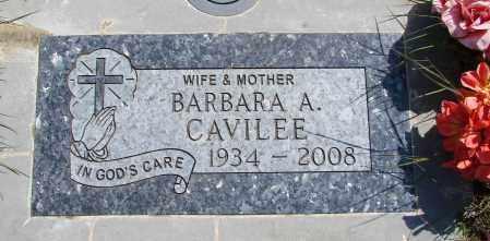 CAVILEE, BARBARA A - Polk County, Oregon   BARBARA A CAVILEE - Oregon Gravestone Photos