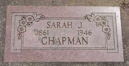 CHAPMAN, SARAH J - Polk County, Oregon | SARAH J CHAPMAN - Oregon Gravestone Photos