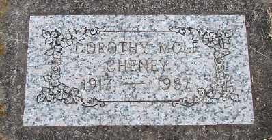 MOLE CHENEY, DOROTHY - Polk County, Oregon | DOROTHY MOLE CHENEY - Oregon Gravestone Photos