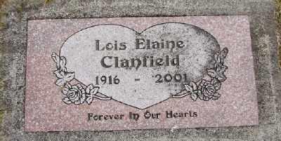 CLANFIELD, LOIS ELAINE - Polk County, Oregon | LOIS ELAINE CLANFIELD - Oregon Gravestone Photos