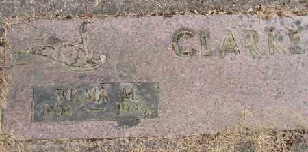 CLARKE, WILMA M - Polk County, Oregon | WILMA M CLARKE - Oregon Gravestone Photos