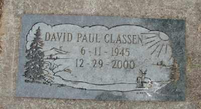 CLASSEN, DAVID PAUL - Polk County, Oregon   DAVID PAUL CLASSEN - Oregon Gravestone Photos