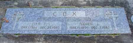 COX, ANDREW J - Polk County, Oregon | ANDREW J COX - Oregon Gravestone Photos