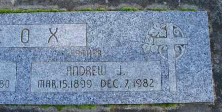 COX, ANDREW J - Polk County, Oregon   ANDREW J COX - Oregon Gravestone Photos