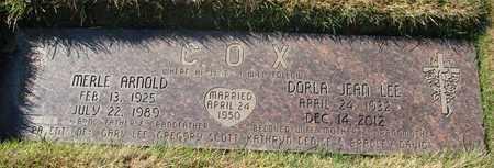 COX, MERLE ARNOLD - Polk County, Oregon | MERLE ARNOLD COX - Oregon Gravestone Photos