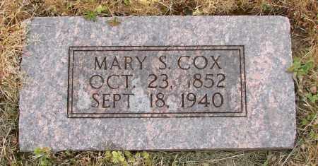 COX, MARY S - Polk County, Oregon   MARY S COX - Oregon Gravestone Photos