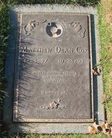 COX, MATTHEW DEAN - Polk County, Oregon   MATTHEW DEAN COX - Oregon Gravestone Photos