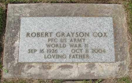 COX, ROBERT GRAYSON - Polk County, Oregon   ROBERT GRAYSON COX - Oregon Gravestone Photos