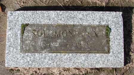COX, SOLOMON - Polk County, Oregon | SOLOMON COX - Oregon Gravestone Photos