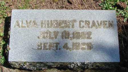 HUBERT CRAVEN, ALVA - Polk County, Oregon | ALVA HUBERT CRAVEN - Oregon Gravestone Photos