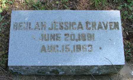 HESS CRAVEN, BEULAH JESSICA - Polk County, Oregon | BEULAH JESSICA HESS CRAVEN - Oregon Gravestone Photos