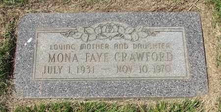 CRAWFORD, MONA FAYE - Polk County, Oregon | MONA FAYE CRAWFORD - Oregon Gravestone Photos