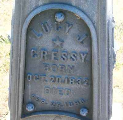 CRESSY, LUCY J - Polk County, Oregon   LUCY J CRESSY - Oregon Gravestone Photos