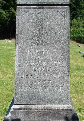 CRIDER, MARY E - Polk County, Oregon   MARY E CRIDER - Oregon Gravestone Photos