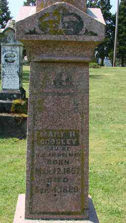 HOLMAN CROSLEY, MARY H - Polk County, Oregon | MARY H HOLMAN CROSLEY - Oregon Gravestone Photos