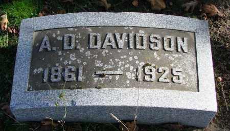 DAVIDSON, A D - Polk County, Oregon   A D DAVIDSON - Oregon Gravestone Photos