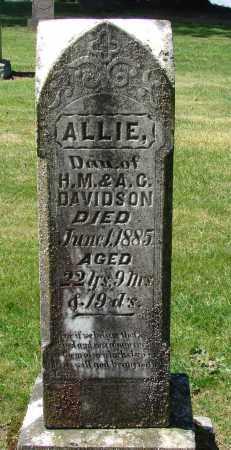 DAVIDSON, ALLIE - Polk County, Oregon | ALLIE DAVIDSON - Oregon Gravestone Photos