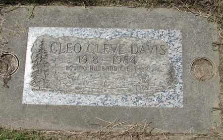 DAVIS, CLEO CLEVE - Polk County, Oregon | CLEO CLEVE DAVIS - Oregon Gravestone Photos