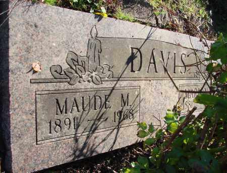 DAVIS, MAUDE M - Polk County, Oregon | MAUDE M DAVIS - Oregon Gravestone Photos